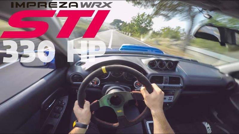 SUBARU IMPREZA WRX STI 2003 330hp RAW POV ORGASMIC SOUND INSANE DRIVING