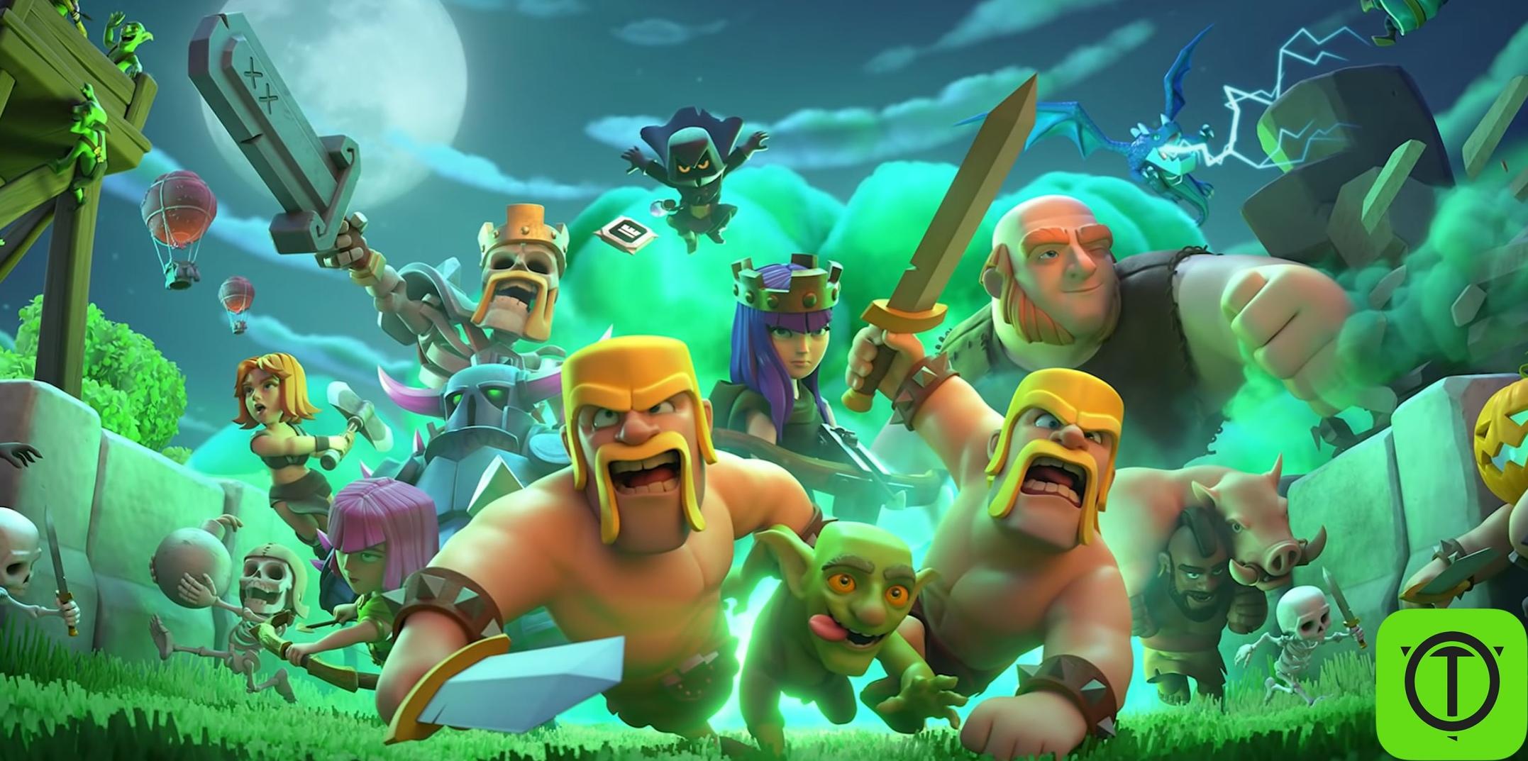 Новый загрузочный экран в Clash of Clans. #coc_news@opegitstudio