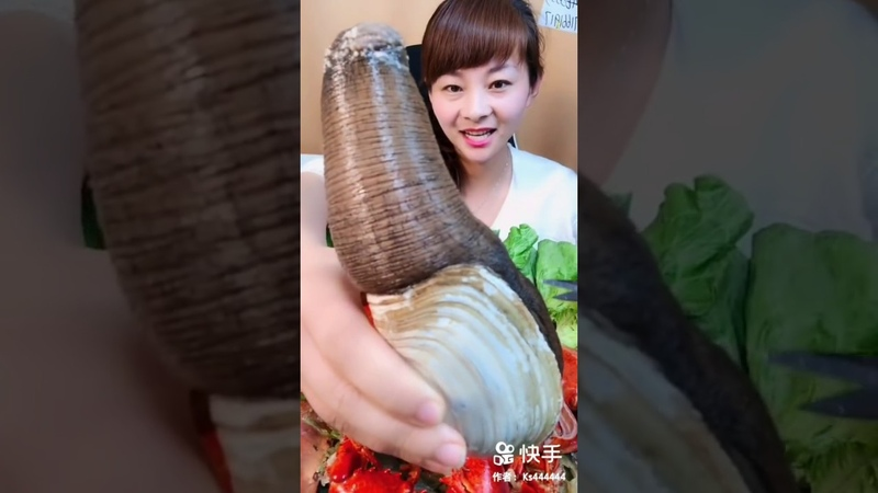 Eating Delicious Seafood Geoducks Weird Looking Seafood 03 Mukbang Eating Show