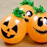 Воздушный шар-тыква со сладостями на Хэллоуин