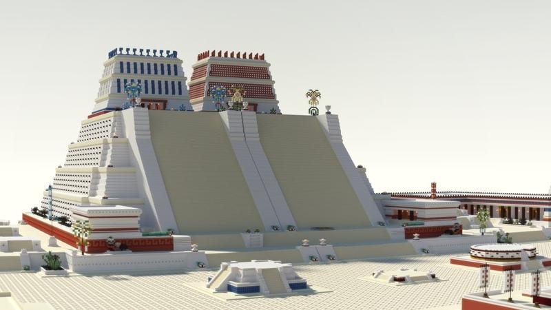 Теночтитлан Minecraft Tenochtitlan Huey Teocalli Templo Mayor The Great Aztec Temple