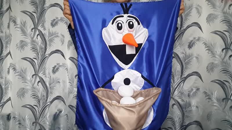 ОЛАФ со снежками реквизит для аниматора