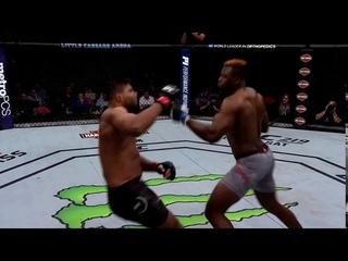 UFC 218   Alistar Overeem vs Francis Ngannou   Brutal Knockout   Slow Motion HD