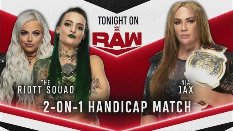 The Riott Squad Vs Nia Jax WWE Raw 07 09 2020 En Español