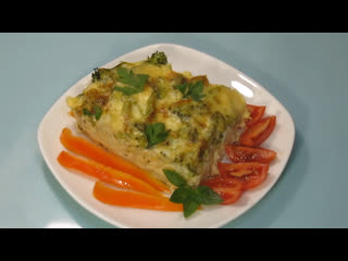 🥦 😋  Запеканка из цветной капусты и брокколи. ПП рецепт.