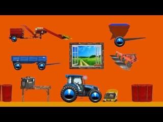 Синий трактор едет по полям [МУЛЬТФИЛЬМ] / Blue tractor rides through the fields [CARTOON]