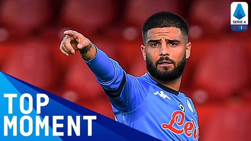 Lorenzo Insigne scores a ROCKET for Napoli Benevento 1 2 Napoli Top Moment Serie A TIM