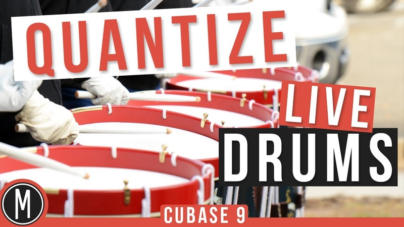 How to QUANTIZE LIVE DRUMS in CUBASE 9 -mixdown.online