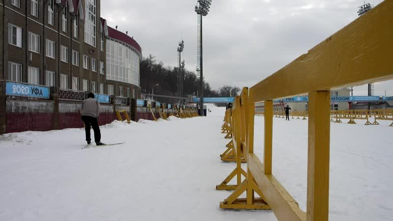 На Биатлоне катались на лыжах с Владиславом 22 02 2020 г ( 3 часть )
