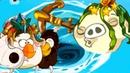 Свин-ПОСЕЙДОН в Водовороте Angry Birds Epic с Кидом 170 Рождественский Бард Матильды на крутилкины