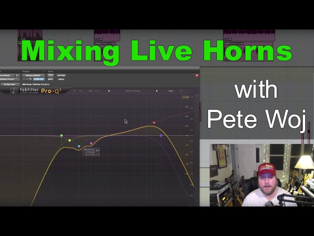 Mixing Live Horns in a HipHop track with Pete Woj - Warren Huart Produce Like A Pro