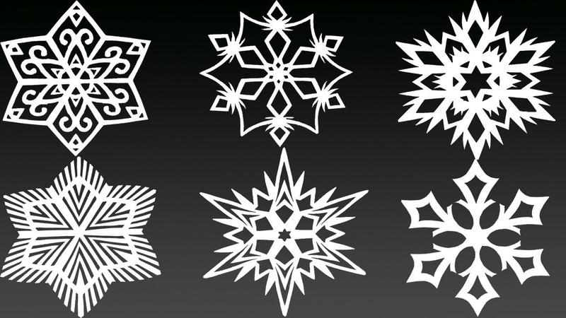 6 AMAZING Paper Snowflakes in 5 MINUTES EACH Yakomoga