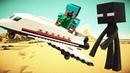 Майнкрафт видео онлайн - Стив против Мобов! Как сбежать от Эндермена? Сборник видео с Lego Minecraft