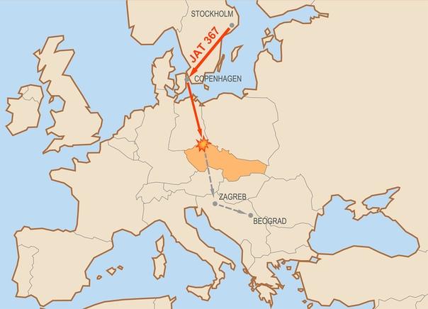 Рекорд Весны Вулович. Деревня Србска-Каменице (Чехословакия, сейчас Чехия), 26 января 1972 года. «Я чувствую, завтра что-то произойдет», поделился со стюардессой Весной Вулович один из членов