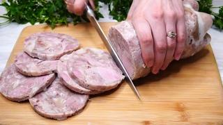 Кладу мясо в бутылку и получаю КОЛБАСУ 145 руб  за кг.  Натуральная без добавок и красителей