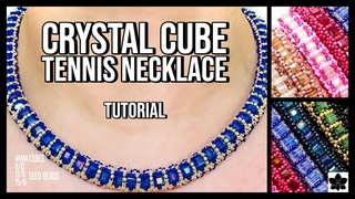 DIY Crystal Cube Tennis Necklace Beading Tutorial