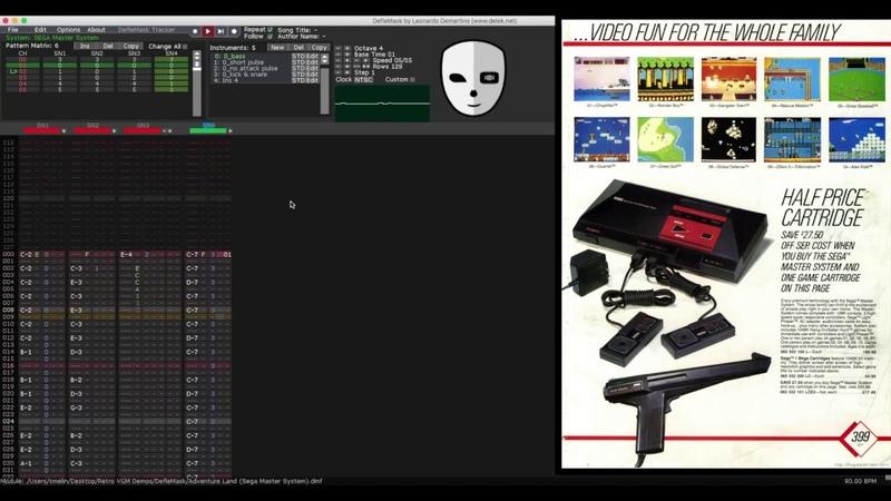 DefleMask How to Compose 8 bit Sega Master System Music for Free