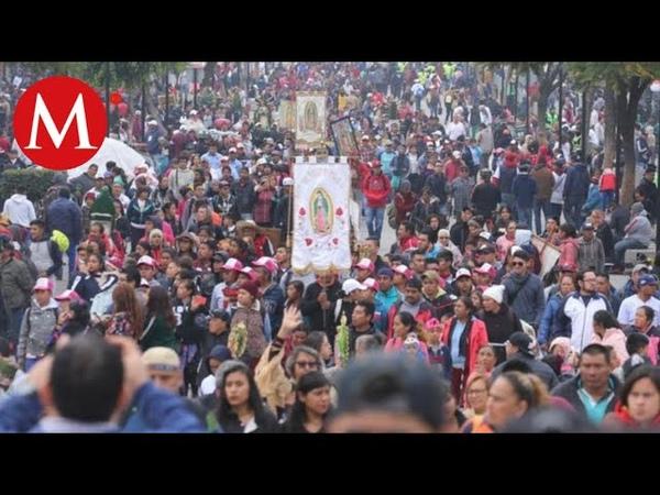 En Basílica de Guadalupe aumenta llegada de peregrinos