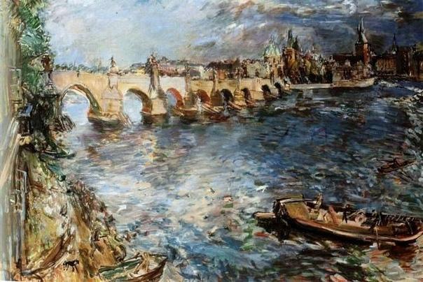 «Карлов мост в Праге», Оскар Кокошка 1936г. Холст, масло. Размер: 94x128 см. Национальная галерея Прага В Праге все дороги ведут к Карлову мосту, перекинутому через полноводную Влтаву еще в XIV