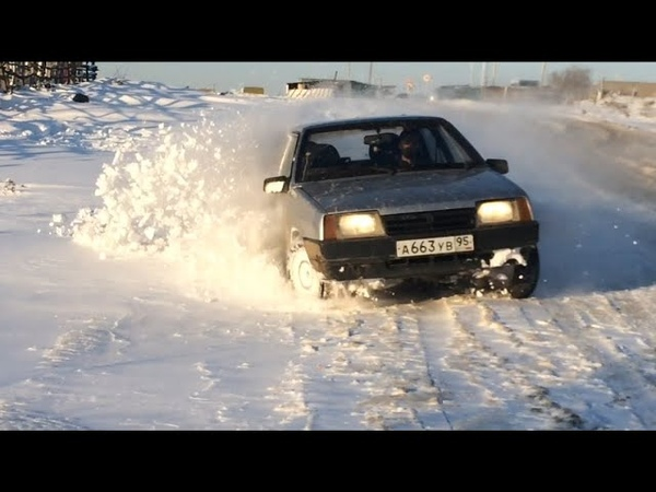 Танк грязи не боится ВАЗ 21099 в снегу