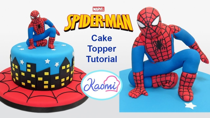 Cómo hacer a SPIDERMAN para tortas Kaomi Tutoriales
