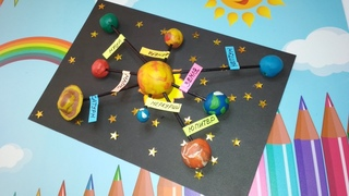 💥Поделка модель солнца и солнечной системы. День космонавтики💥 #поделка