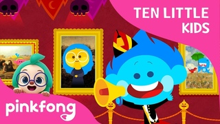 Ten Little Kids in the Art Museum | Ten Little Kids Songs | Pinkfong Songs for Children