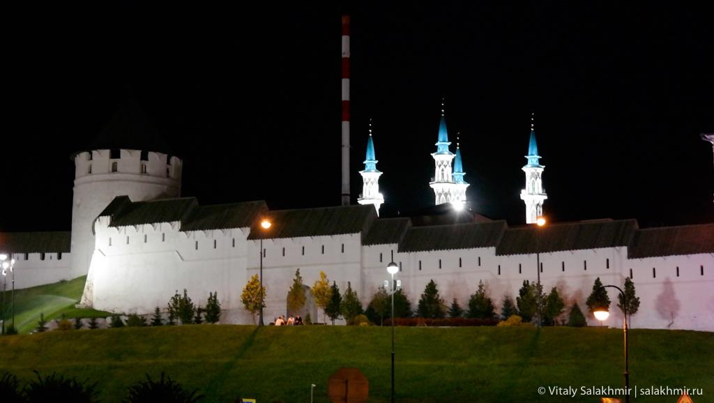 Мечеть Кул-Шариф ночью, Казань 2020