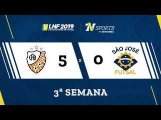 LNF2019 - Gols - 3r - ACBF 5 x 0 São José