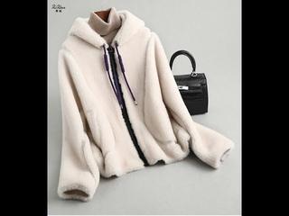 Женское шерстяное пальто с капюшоном zizhen, жакет на молнии и шорты, верхняя одежда для весны и осени, kqn59307