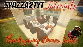 Minecraft Thanksgiving Dinner Table Tutorial