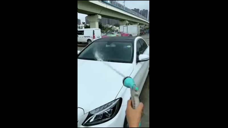 Шланг на катушке для мытья авто