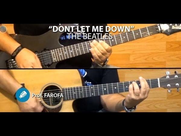 Don't Let Me Down The Beatles COVER GUITAR Prof Farofa
