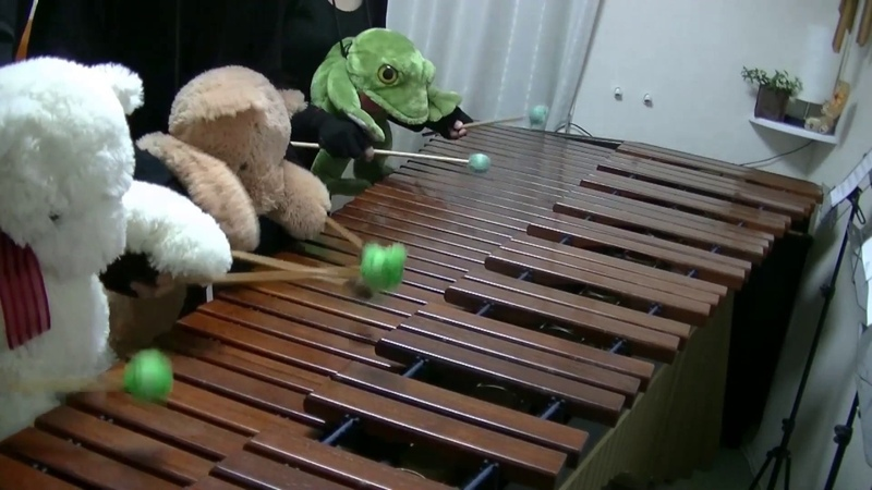 マリンバ3重奏「ぬいぐるみたちの天国と地獄」 Orpheus in the Underworld Teddy bears Marimba trio