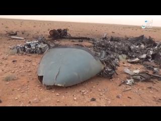 Опубликовали видео сгоревших останков российского вертолета КА-52