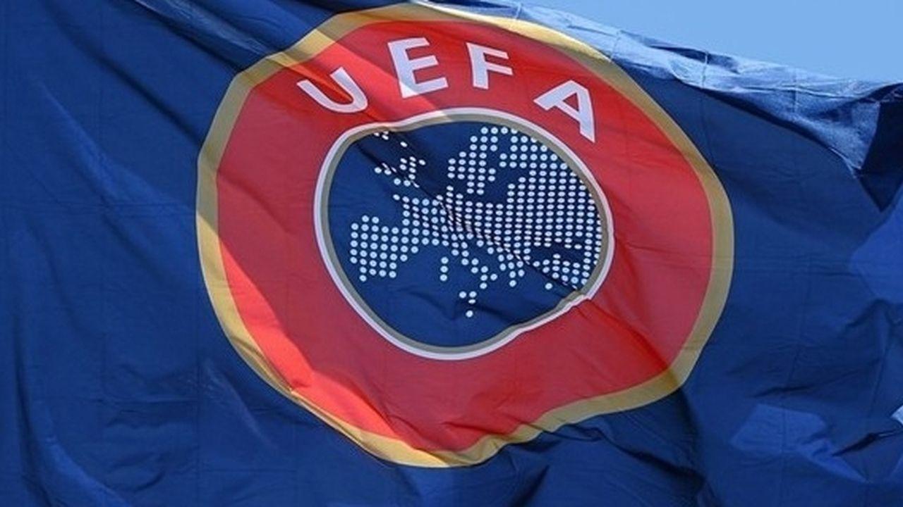 Логотип УЕФА на флаге