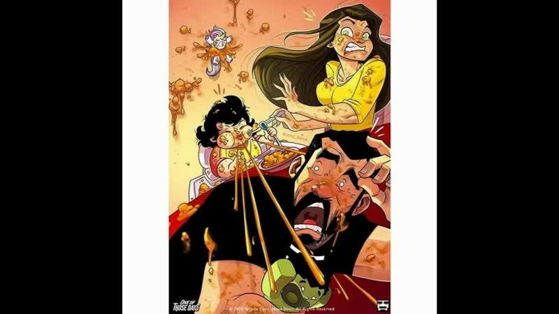 Веселые комиксы о жизни с женой и малышкой дочерью продолжаются