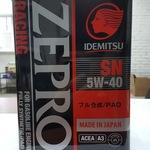 Масло синтетическое Idemitsu zepro Racing SN 5w-40