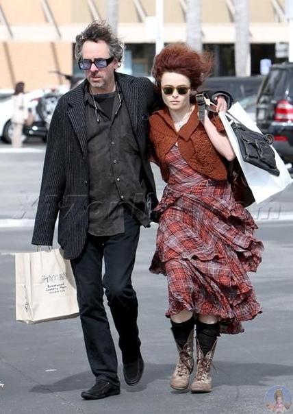 Helena Bonham Carter and Tim Burton  тандем из страны идеальных людей