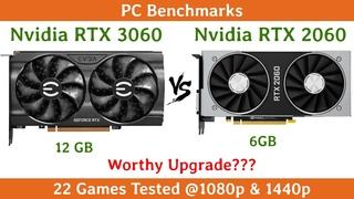 Nvidia RTX 3060 vs RTX 2060 | 22 Games Tested