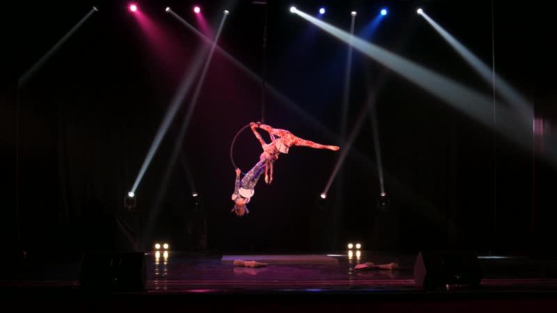 Васильева Евгения, Емельянова Милава Aerial hoop kids дуэты 6-17 FLYART FESTIVAL2019