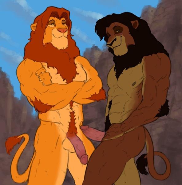 Порно Львы Геи