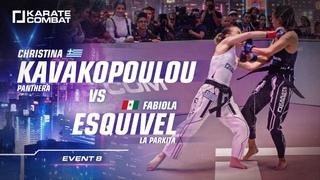 FULL FIGHT:: Christina Kavakopoulou vs Fabiola Esquivel - Karate Combat S02E08