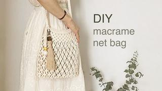 DIY | macrame net bag | 마크라메 네트 백 가방
