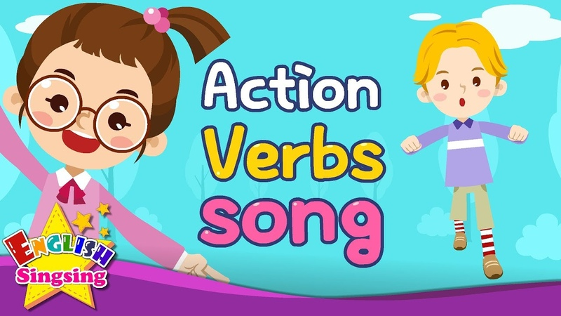 Action Verbs Song Educational Children Song Learning English for Kids