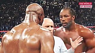 Brutal fight between Evander Holyfield and Lennox Lewis