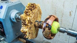 Woodturning - Hybrid Burl Lamp