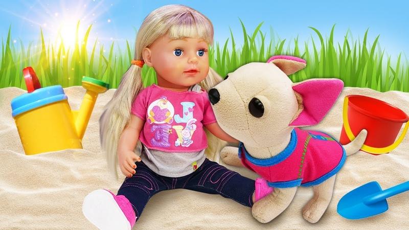 Видео куклы Беби Бон Эмили и Подружка ЧиЧиЛав Гуляем и купаем игрушки Как мама Игры для девочек