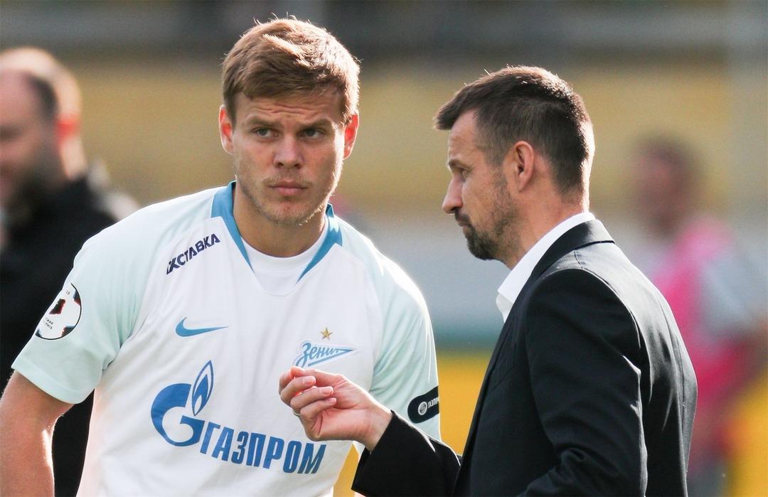 Сергей Семак и Александр Кокорин. ФК Зенит