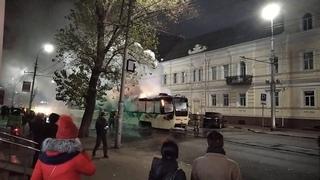На Вавилова сгорел трамвай (видео с чата ЧП-Саратов, пользователя Вероника Вероника)